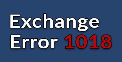 Exchange jet error 1018