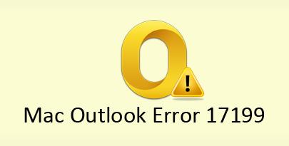 Outlook Mac Error Code 17199