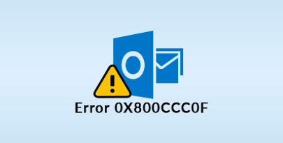 MS Outlook error 0x800ccc0f