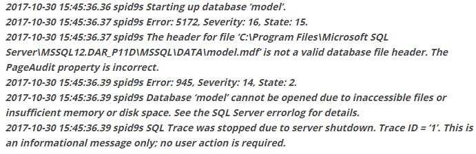 error 5172 in SQL server