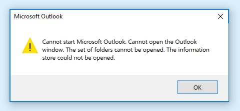 Cannot Open The Outlook Window >> Error Cannot Open Outlook Window Learn Data Recovery Techniques