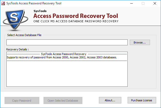 access password recovery tool