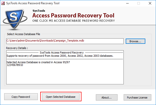 remove password from mdb file