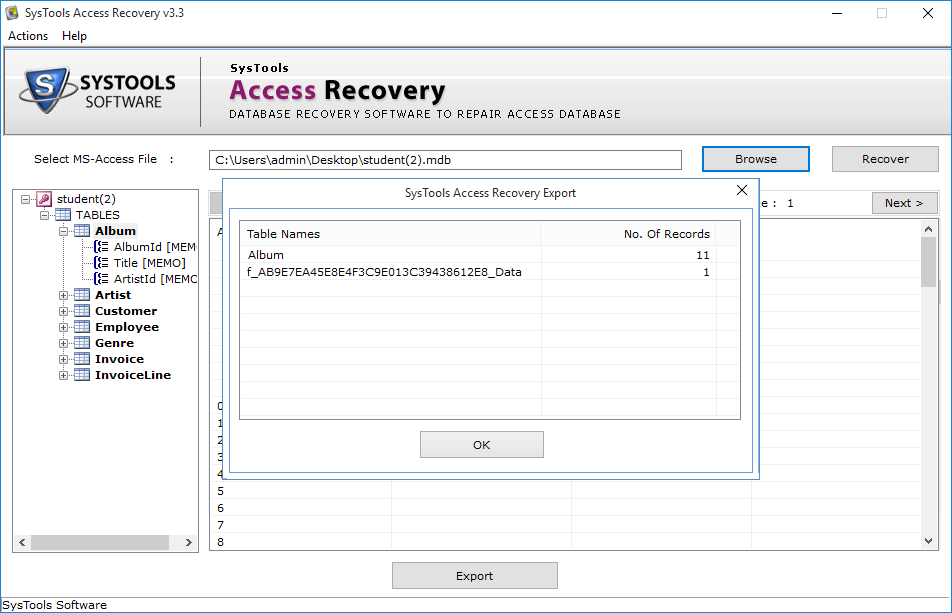 access database file recovery