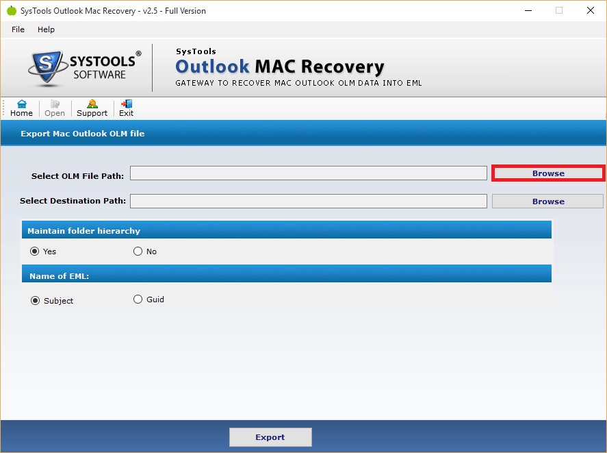 olm file recovery software