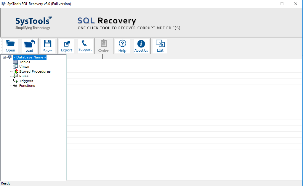mdf database recovery software