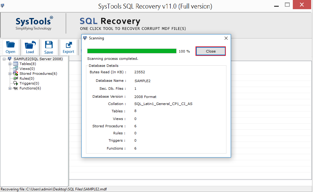 sql db recovery tool