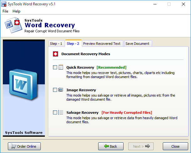 word repair software